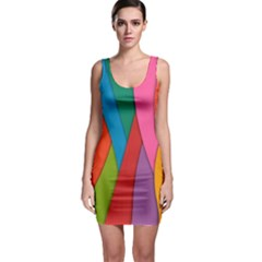 Abstract Background Colrful Bodycon Dress
