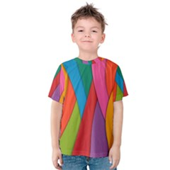 Abstract Background Colrful Kids  Cotton Tee
