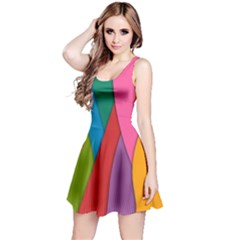 Abstract Background Colrful Reversible Sleeveless Dress