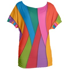 Abstract Background Colrful Women s Oversized Tee
