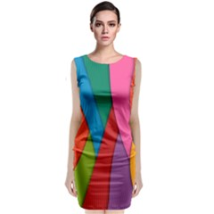 Abstract Background Colrful Classic Sleeveless Midi Dress by Modern2018