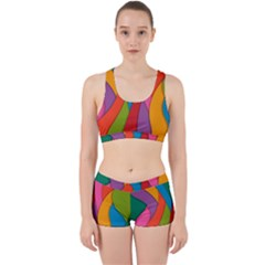 Abstract Background Colrful Work It Out Gym Set