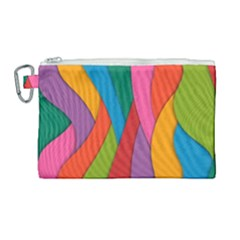 Abstract Background Colrful Canvas Cosmetic Bag (large)