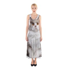 Cutefat Cat  Sleeveless Maxi Dress