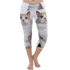 Cutefat Cat  Capri Yoga Leggings