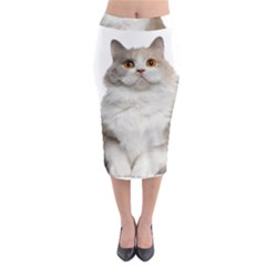 Cutefat Cat  Midi Pencil Skirt