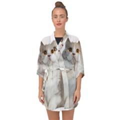 Cutefat Cat  Half Sleeve Chiffon Kimono