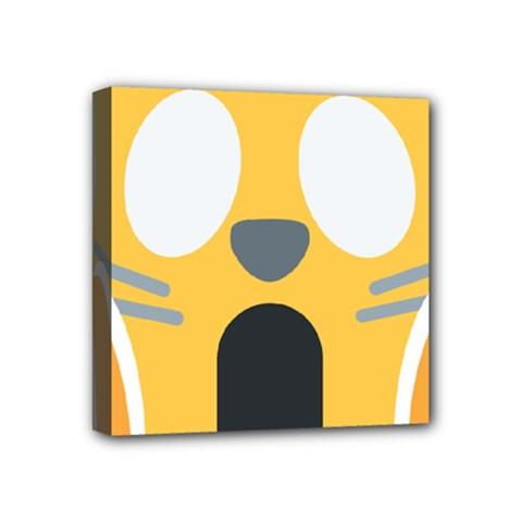 Cat Emoji  Mini Canvas 4  X 4