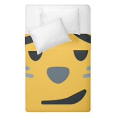 Cat Emoji Duvet Cover Double Side (single Size)