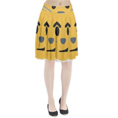 Cat Emoji Pleated Skirt
