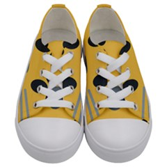 Cat Emoji Kids  Low Top Canvas Sneakers