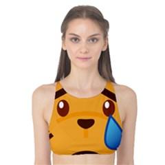Cat Emoji Sad  Tank Bikini Top