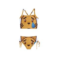 Cat Emoji Sad  Girls  Tankini Swimsuit
