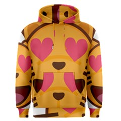 Smiling Cat Face With Heart Shape Men s Pullover Hoodie