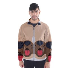 Dog Emojione Wind Breaker (men)
