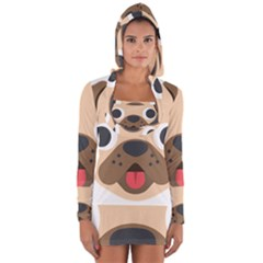 Dog Emojione Long Sleeve Hooded T Shirt