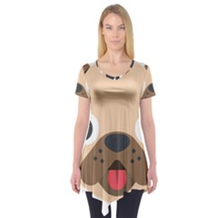 Dog Emojione Short Sleeve Tunic