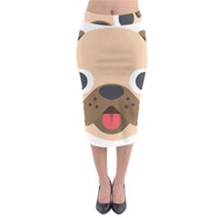 Dog Emojione Midi Pencil Skirt