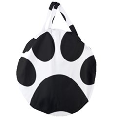 Paw Foot Print Giant Round Zipper Tote