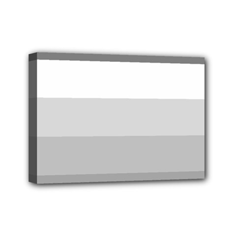 Elegant Shades Of Gray Stripes Pattern Striped Mini Canvas 7  X 5