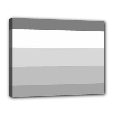 Elegant Shades Of Gray Stripes Pattern Striped Canvas 14  X 11
