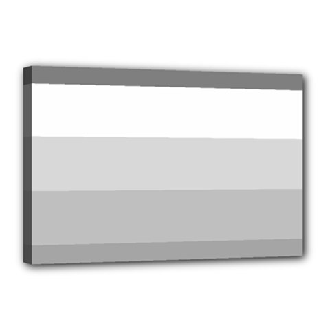 Elegant Shades Of Gray Stripes Pattern Striped Canvas 18  X 12