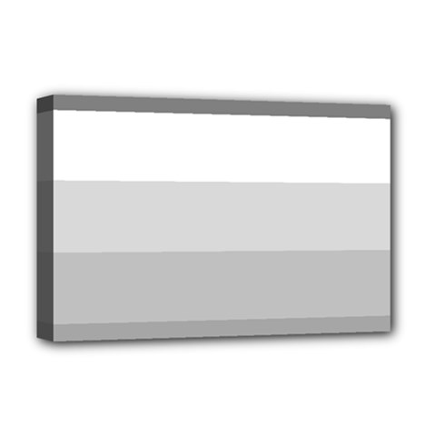 Elegant Shades Of Gray Stripes Pattern Striped Deluxe Canvas 18  X 12
