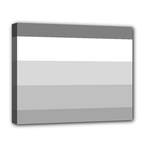 Elegant Shades Of Gray Stripes Pattern Striped Deluxe Canvas 20  X 16