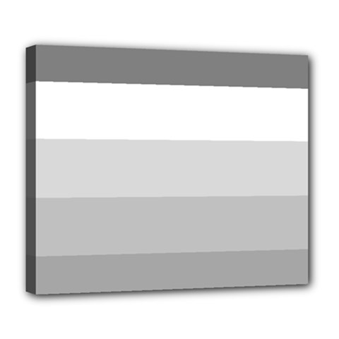 Elegant Shades Of Gray Stripes Pattern Striped Deluxe Canvas 24  X 20