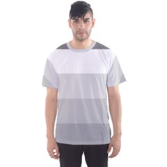 Elegant Shades Of Gray Stripes Pattern Striped Men s Sports Mesh Tee