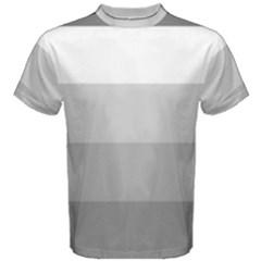 Elegant Shades Of Gray Stripes Pattern Striped Men s Cotton Tee