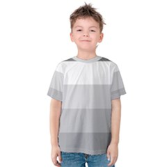 Elegant Shades Of Gray Stripes Pattern Striped Kids  Cotton Tee