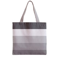 Elegant Shades Of Gray Stripes Pattern Striped Grocery Tote Bag by yoursparklingshop
