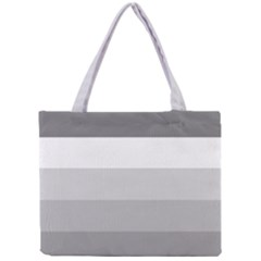 Elegant Shades Of Gray Stripes Pattern Striped Mini Tote Bag