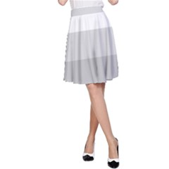 Elegant Shades Of Gray Stripes Pattern Striped A Line Skirt