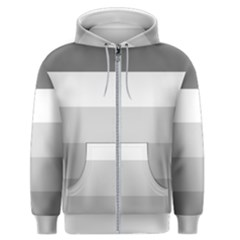 Elegant Shades Of Gray Stripes Pattern Striped Men s Zipper Hoodie