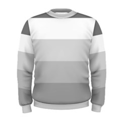 Elegant Shades Of Gray Stripes Pattern Striped Men s Sweatshirt
