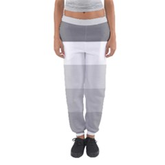 Elegant Shades Of Gray Stripes Pattern Striped Women s Jogger Sweatpants