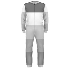Elegant Shades Of Gray Stripes Pattern Striped Onepiece Jumpsuit (men)