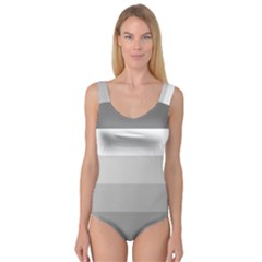 Elegant Shades Of Gray Stripes Pattern Striped Princess Tank Leotard