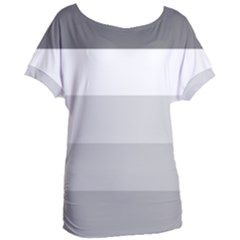 Elegant Shades Of Gray Stripes Pattern Striped Women s Oversized Tee