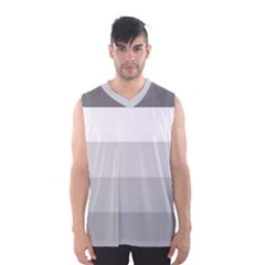 Elegant Shades Of Gray Stripes Pattern Striped Men s Basketball Tank Top
