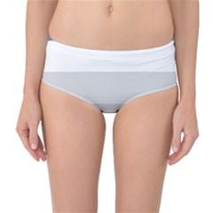 Elegant Shades Of Gray Stripes Pattern Striped Mid Waist Bikini Bottoms