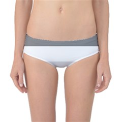 Elegant Shades Of Gray Stripes Pattern Striped Classic Bikini Bottoms