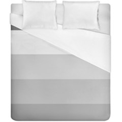 Elegant Shades Of Gray Stripes Pattern Striped Duvet Cover (california King Size)