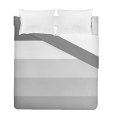 Elegant Shades Of Gray Stripes Pattern Striped Duvet Cover Double Side (full/ Double Size)