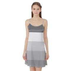 Elegant Shades Of Gray Stripes Pattern Striped Satin Night Slip