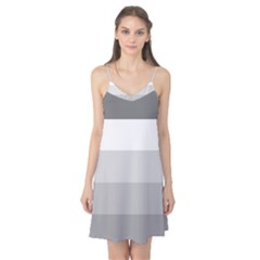 Elegant Shades Of Gray Stripes Pattern Striped Camis Nightgown