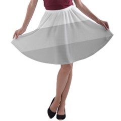 Elegant Shades Of Gray Stripes Pattern Striped A Line Skater Skirt