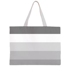 Elegant Shades Of Gray Stripes Pattern Striped Zipper Large Tote Bag